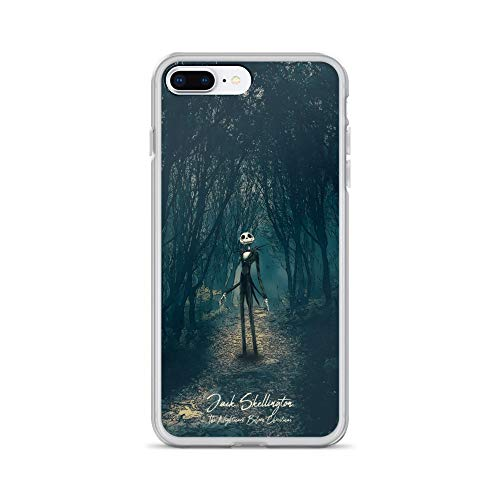 (iPhone 7 Plus/8 Plus Case Anti-Scratch Motion Picture Transparent Cases Cover The Nightmare Before Christmas Jack Skellington Movies Video Film Crystal Clear)