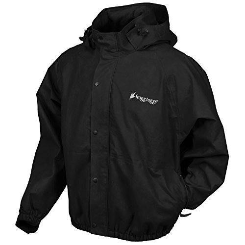 Frogg Toggs Classic Pro Action Rain Jacket with Pockets, Black, Size - Raincoat Frog