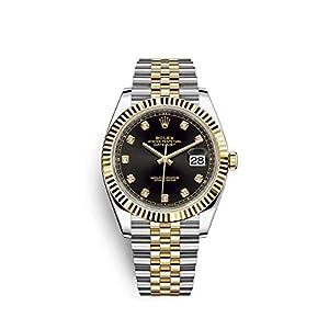 Best Epic Trends 412oQEzuMHL._SS300_ Rolex Datejust 41 Black Diamond Dial Stee and 18K Yellow Gold Jubilee Mens Watch 12633BKDJ