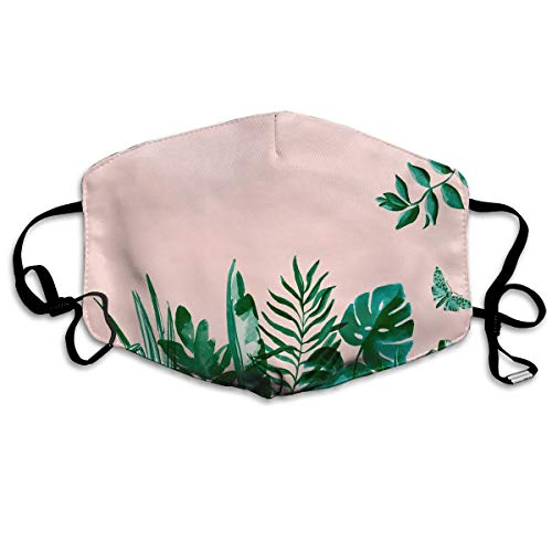 YUANSHAN Dust Mask Pastel Leaves Outdoor Mouth Mask