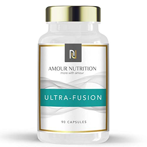 Amour Nutrition Ultra- Fusion Fat Burner, Powerful Weight Loss Diet Pills with Raspberry Ketone, Glucomannan, L…