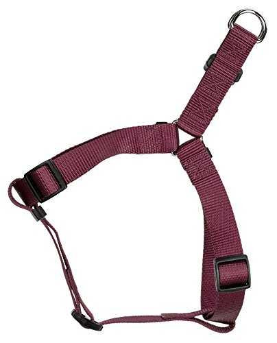 Country Brook Design Burgundy Nylon Step-in Dog Harness - Small ()