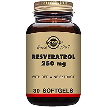Solgar - Resveratrol with Red Wine Extract, 250 mg, 30 Softgels