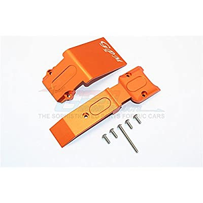 Traxxas E-Revo Brushless Edition Upgrade Pièces Aluminium Front Skid Plate - 2Pcs Set Orange