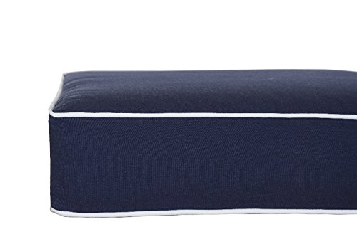 bossima indoor outdoor navy blue deep seat chair cushion set spring