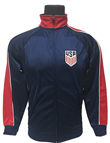 - US Soccer Jacket, Official USA Track Jacket for Adults (Medium)