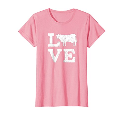 Womens I Love Cows T-Shirt Funny Medium (Cow Womens Pink T-shirt)