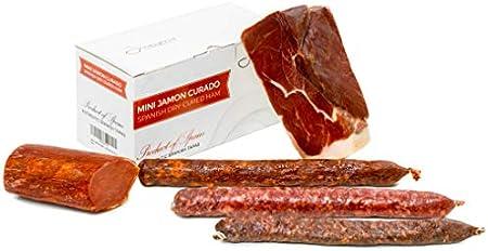Jamón Serrano Curado Deshuesado 1 kg + Lomo Duroc Natural 250 gr + Chorizo Extra Sarta Dulce 200 gr + Salchichón 200 gr + Fuet 150 gr - Jamonprive