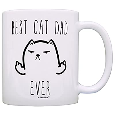 Cat Fan related Products Funny Cat Gifts Best Cat Dad Ever Rude Cat Lovers Cat Memes Gift... [tag]