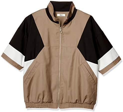 (メンズ)(WEGO) TRカラーブロック5分袖ブルゾン