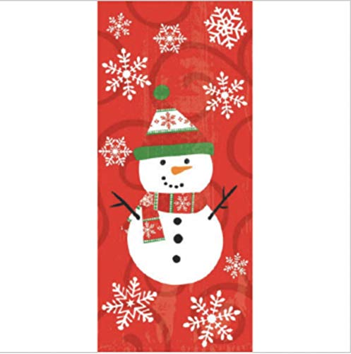 - Snowman Cello Bags Set (20 Large and 20 Small)