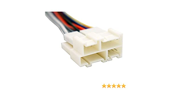 amazon.com: compatible with gmc jimmy 1994-2001 factory stereo to  aftermarket radio install harness adapter: car electronics  amazon.com