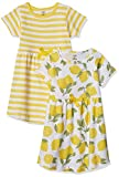 Touched by Nature Girls, Toddler, Baby and Womens Organic Cotton Short-Sleeve and Long-Sleeve Dresses, Lemon Tree Short Sleeve, 3-6 Months