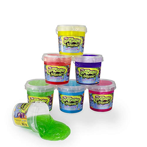 GooZooka Slime Bucket Pack – Bulk Bundle of [6] 24-oz Reusable Tubs of Slime w/ Handles in Red, Yellow, Green, Pink, Blue & Purple – Perfect for Boys & Girls Birthday Gift, Party Favors, School & More by Creative Kids (Image #6)
