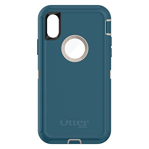OtterBox Defender Series Case for iPhone X & iPhone Xs (ONLY), Case Only - Bulk Packaging - Big SUR (Pale Beige/Corsair)