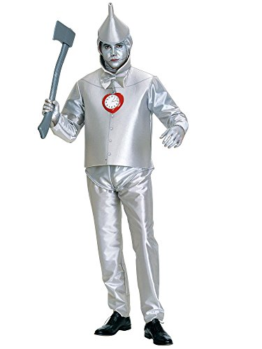 Rubie's Costume Co Men's Wizard of Oz Tin Man Costume, Silver Metallic, Plus -