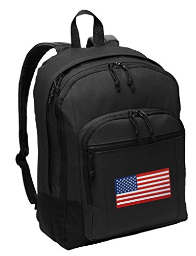 American Flag Backpack CLASSIC Style USA Flag Backpack Laptop Sleeve