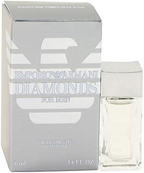 Emporio Armani Diamantes por Giorgio Armani para hombre Mini EDT .14 oz 4 ml: Amazon.es: Belleza