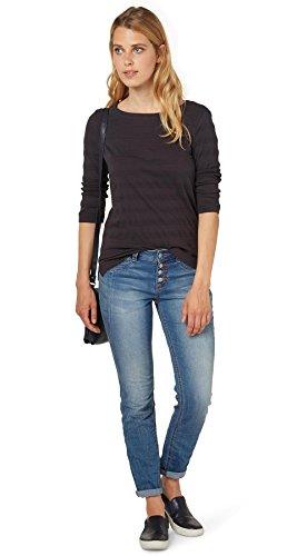 TOM TAILOR Camiseta 100 % algodón Mujer antracita