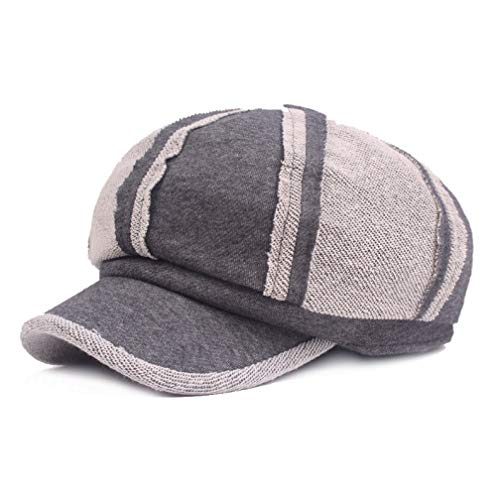 Women's Autumn Winter Newsboy Caps Retro Cotton Snapback Cap Yarn Casual Patchwork Sports Hat