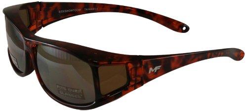 MF Sideshow Glasses (Tortoise Frame/Driving Mirror - Over Glasses Walmart Sunglasses