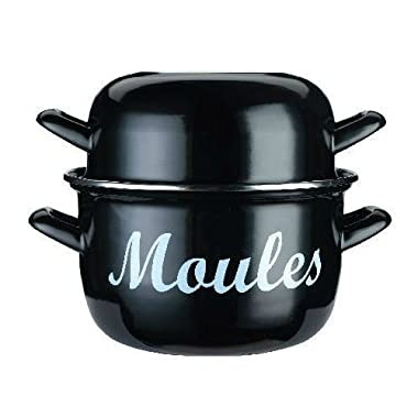 Kitchen Craft Enamelled Steel 18cm Mussels Pot (Pack of 4)