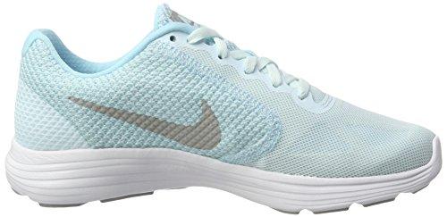 Nike Revolution 3 - Zapatillas de Entrenamiento, Mujer Multicolor (Glacier Blue/matte Silver-still Blue-wol)