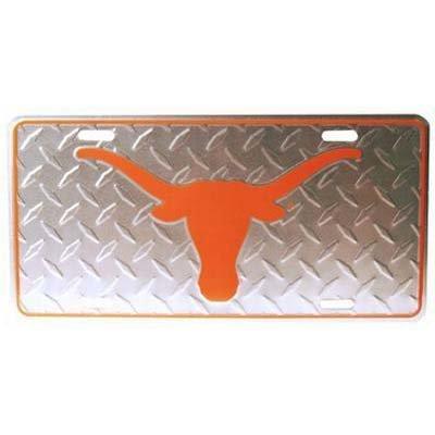 NCAA Texas Longhorns Diamond Plate Car Tag