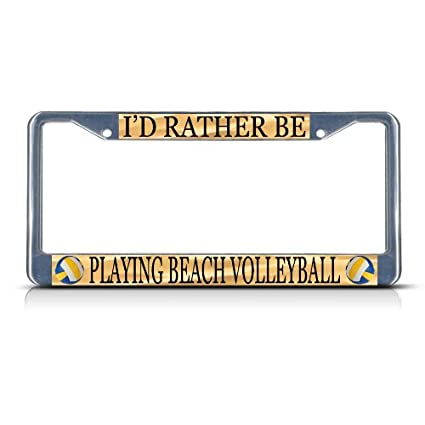 Black License Plate Frame World/'s Greatest Volleyball Player Auto Accessory