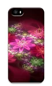 Colorful Flowers Cg PC Case Cover for iPhone 5 and iPhone 5s 3D