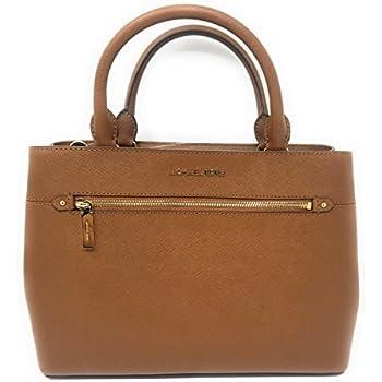 b4def3626c8c MICHAEL Michael Kors Women s HAILEE Medium Satchel Leather Handbag LUGGAGE