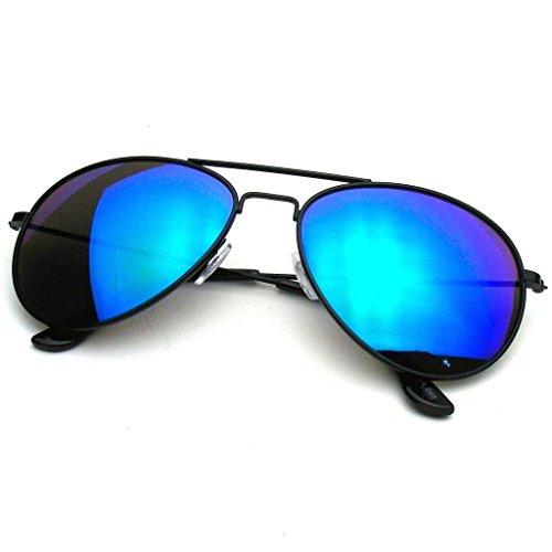 Lente Emblem Eyewear Aviador Premium Gafas Metal Sol Espejo Classic Negro De Verde Reflexivo 1YYUwx