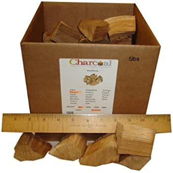 CharcoalStore Almond Wood Smoking Chunks - Bark (5 pounds)