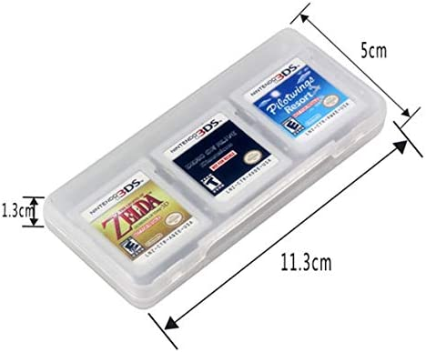 JohnJohnsen 6 in 1 Hard Plastic Storage Box Case Holder for Nintend DS 2DS New 3DS XL LL 3DSLL 3DSXL Game Cards
