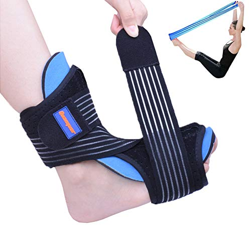 (Plantar Fasciitis Night Splint Foot Drop Orthotic Brace for Sleep Support- Adjustable Dorsal Night Splint for Effective Relief from Plantar Fasciitis Pain, Heel, Arch Foot Pain Fits Right or Left Foot)