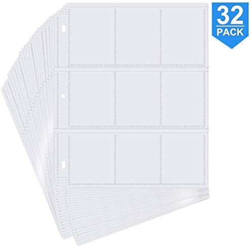 POKONBOY 288 Pockets Trading Card Storage Album Pages Card Collector Coin Holders Wallets Sleeves Card Binder Set Perfect for Skylanders, Pokemon, Top Trumps