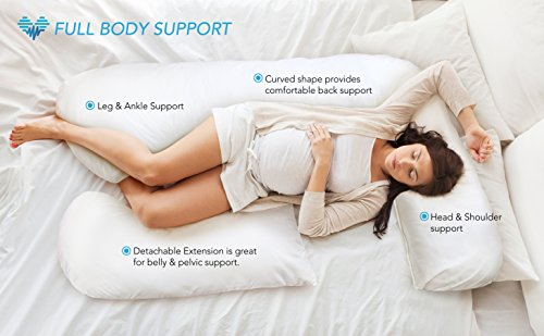 PharMeDoc-Hypoallergenic-Pregnancy-Pillow-Baby-Nursing-Cushion-Maternity-Pillow-for-Pregnant-Women-Full-Body-Pillow-for-Belly-Back-Support-with-Detachable-Extension-U-Shaped