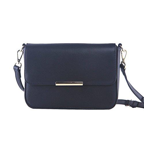 Vintage Ropa De Mujeres De Doble Hoja Mini Cross Body Bag Multicolor Black