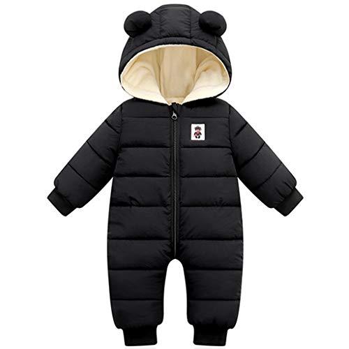 Baby Jongens Meisjes Snowsuit Winter Romper All-in-One Hooded Jumpsuit Dikken Onesies Baby Fleece Sleepsuit