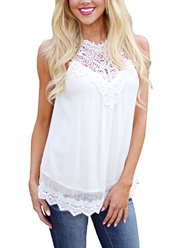 LOSRLY Crochet Sleeveless Blouse Casual product image