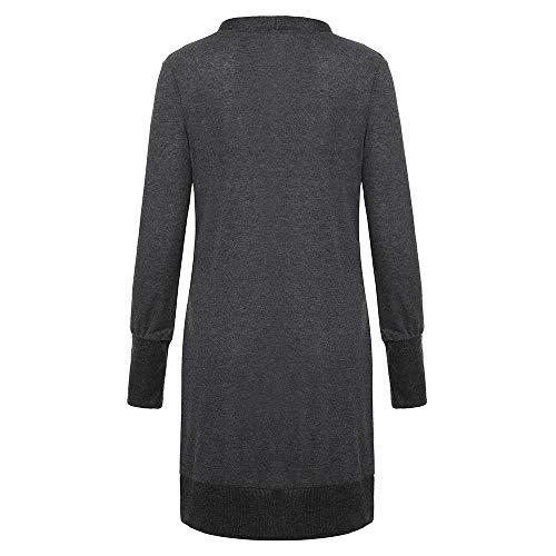 Ashop Talla Oscuro Gris Invierno Chaquetas Parka Mujer Grande Pullover Mujer Ropa Abrigos Jacket Capa 4qXOr4