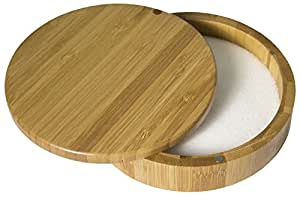 Totally Bamboo Bar Keeper's Salt Box, Bamboo Container With Magnetic Lid For Secure Storage, Fits Most Cocktail Glasses