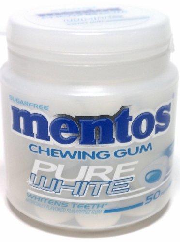 Mentos Spice Pure White Mnt Gum 50C - 4 Pack