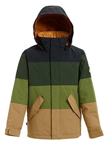 (Burton Boys' Symbol Jacket, True Black/Resin/Olive Branch/Kelp, Medium)