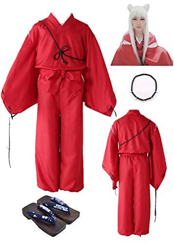 YOUYI Inuyasha Halloween Cosplay Costume Halloween Clothing Full Set (Child L-3XS)