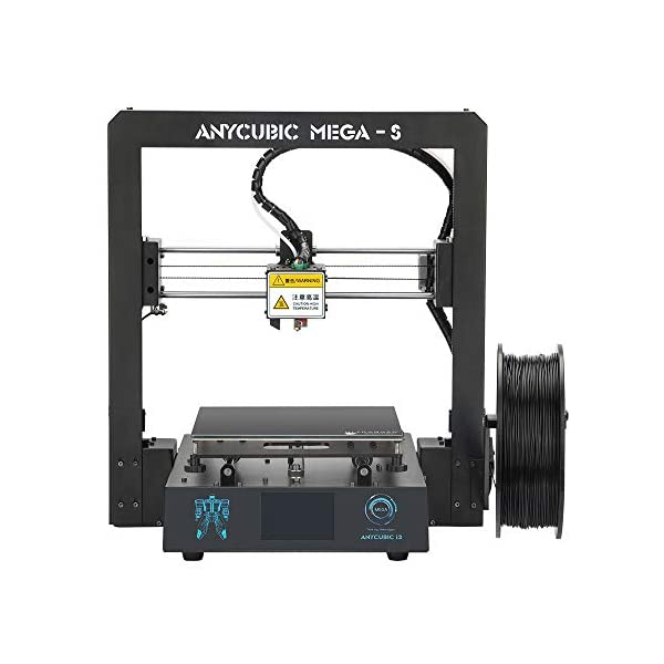 ANYCUBIC Mega-S New Upgrade 3D Printer with Extruder and Suspended Filament Rack + Free 1kg PLA Filament, Works with TPU/PLA/ABS