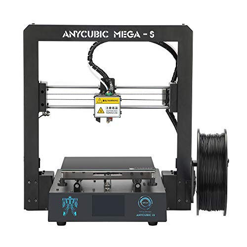 ANYCUBIC Mega-S New Upgrade 3D Printer with Extruder and Suspended Filament Rack + Free 1kg PLA Filament, Works with TPU/PLA/ABS (Best Dual Extruder 3d Printer 2019)