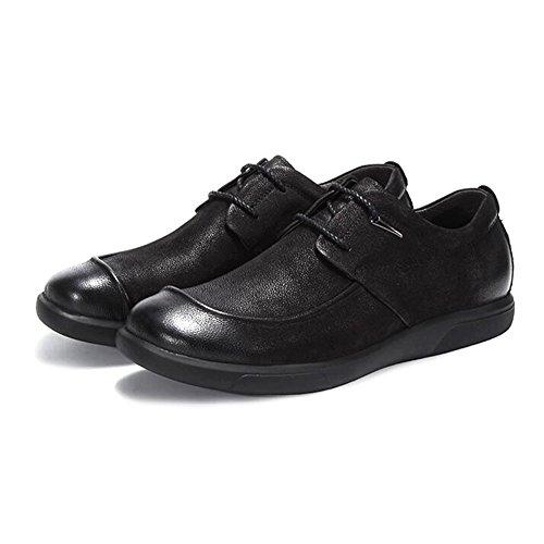 Zapatos De Cuero Dermis Hombres Temporadas Comfort Soft Fashion Casual Driving Shoes Black