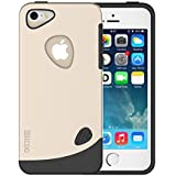 iPhone 5S case, Slicoo [Lifetime Warranty] Pebble Series Dual-layer TPU Rubber Protective Carrying Cover Case for iPhone 5/5S