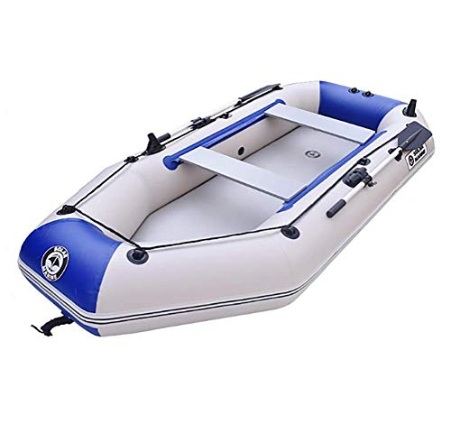 Kayak Fishing Boat, 2-Person Inflatable Kayak Set with Aluminum Oars and High Output Air Pump